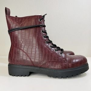 NWT SO Bowfin Combat Boot Burgundy 9.5